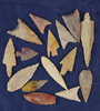 Group of 15 assorted African Neolithic Arrowheads.