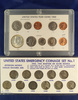 Complete 11 Coin Silver War Nickel Set VG-VF and 1968 Coin Set Cent – Half Dollar P, D and S AU-BU