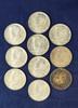10 – 1964-D Kennedy Silver Half Dollars AU-BU