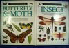 """Pair of hardback  Eyewitness Books: """"Butterfly & Moth"""" and """"Insect""""."""