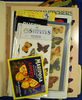 Large lot of butterfly stickers, postcards, and stamps.