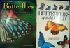"""2 Hardcover books: """"Butterflies of the World"""" by Sbordoni and Forestiero, and """"The Encyclopedia of B"""