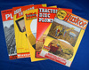 Set of 5 color brochures:  3 Minneapolis-Moline plows from 1940 & 2 Waterloo Mfg Co