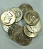 10 Franklin Silver Half Dollars VF-AU