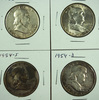 1953, 1953-D, 1954-D and 1954-S Franklin Half Dollars VF-AU