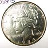 1934-S Peace Silver Dollar AU Details