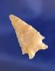 "Beautiful semi translucent material on this 1 5/16"" Cornernotch found in Oregon."