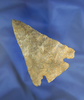 "3 3/8"" Notched Base made from Onondaga Flint found in Medina Co., Ohio near Brunswick."