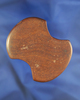 """Rare style & Highly Polished! 2 11/16"""" Undrilled Red Hardstone Bi-Concave Adena Gorget  Ohio."""
