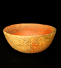 "2 5/8"" Tall by 6"" Wide Nayarit Culture Polychrome Bowl - Mexico, circa 200 BC - AD 200.  Schmitt COA"