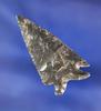 """1 15/16"""" Obsidian Elko Eared found near Fort Rock, Oregon."""