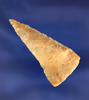 """Nicely flaked 2"""" Plateau Pentagonal Knife found near the Columbia River."""