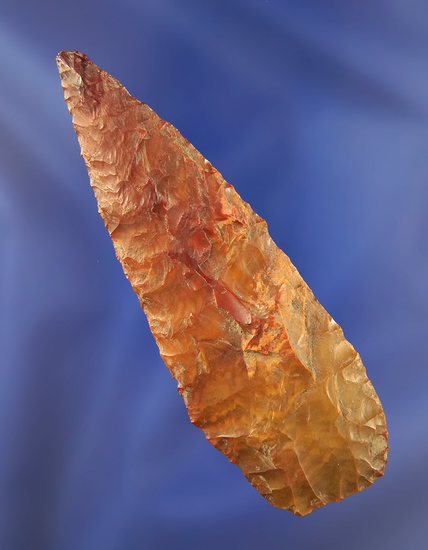 "3 11/16"" well made multicolored Jasper Pentagonal knife found in the Atlatl Valley in the 1950's"