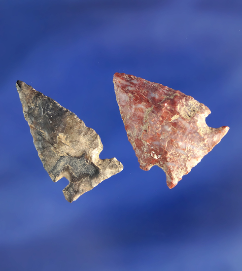 Nice pair of arrowheads found near the Columbia River, Washington - both in good condition.