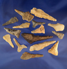 """Set of 15 assorted Flint drills and perforators found in Tennessee, largest is 2 5/8""""."""