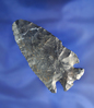"""2 7/8"""" Coshocton Flint Notched Base Dovetail found in Ohio."""