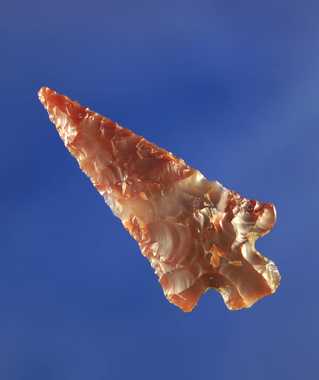 "1 5/16"" clear and red translucent agate Columbia Plateau.    Columbia River."