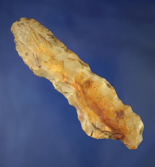 "Very unique 4 3/16"" multipurpose Flint Ridge Flint knife/tool found in Defiance Co.,  Ohio."