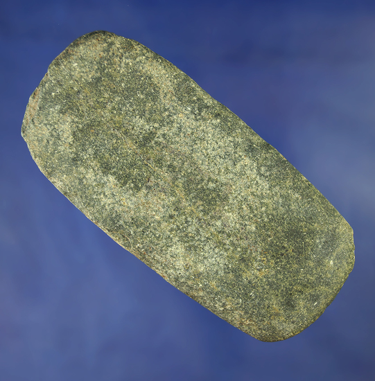 """4"""" Flat Stone Celt with a nicely polished bit, found in Ohio."""