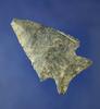 "2 9/16"" Coshocton Flint Archaic Cornernotch knife found in Ohio."