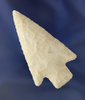 """Excellent style on this 2 5/8"""" nicely Barbed arrowhead found in Missouri. Ex. Jerry Dickey."""