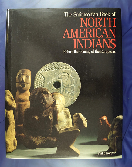 """Hardcover book: """"Before the Coming of the Europeans"""" by Philip Kopper."""