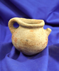 """3 1/2"""" Strap handle Precolumbian Pot - one strap anciently broken and salvaged."""