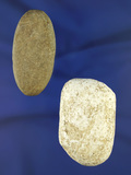 Pair of stone Atlatl weights found in Ohio, one is made from Galena. Largest is 2 1/4