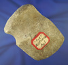 """4 and 1/4"""" long 3/4 grooved heavily patinated Axe found in Port Republic New Jersey."""