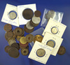 Over 40 Assorted Foreign Coins Including 9 Silver - Oldest Coin is 1781