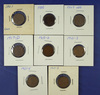 1861, 1900 Indian Cents and 1909 VDB, 1917-D, 1918-D and 3 1921-S Lincoln Wheat Cents G-AU