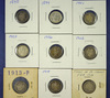 1898, 1899, 1901, 1903, 1906, 1908, 1913, 1914 and 1915 Barber Dimes AG-VF