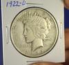1922-D Peace Silver Dollar F