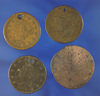 1829, 1855 and No Date Holed US Large Cents Plus Smashed Canadian Bank Token