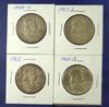 1949-S, 1957-D, 1963 and 1963-D Franklin Half Dollars VF-BU