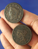 1829 and 1840 Large Cents VG-F Environmental Damage