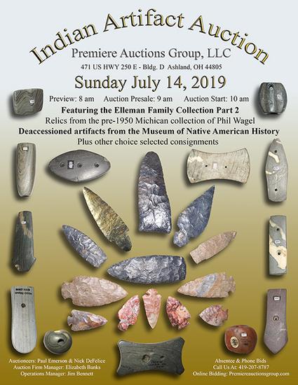 Indian Artifacts Auction - Premiere Auctions Group
