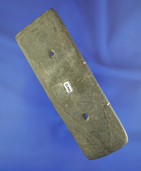 """5"""" Rectangular Gorget found in Indiana is very heavily patinated in very nice condition."""