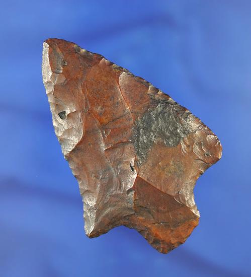 "3 1/8"" Stemmed Knife made from beautiful River polished Flint - Georgia/Florida line."