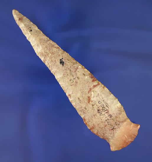 """5"""" Rice Side Notched Knife found in Knox Co.,  Missouri. Comes with a Dickey COA."""