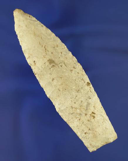 "4 1/8"" Sedalia made from Burlington chert found in Howard Co.,  Missouri.  Motley COA."