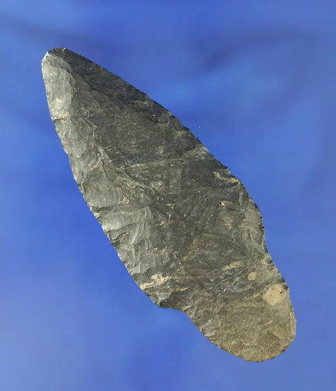"3 3/8"" nicely styled Coshocton Flint Adena found in Tuscarawas Co., Ohio. Ex. Stan Copeland."