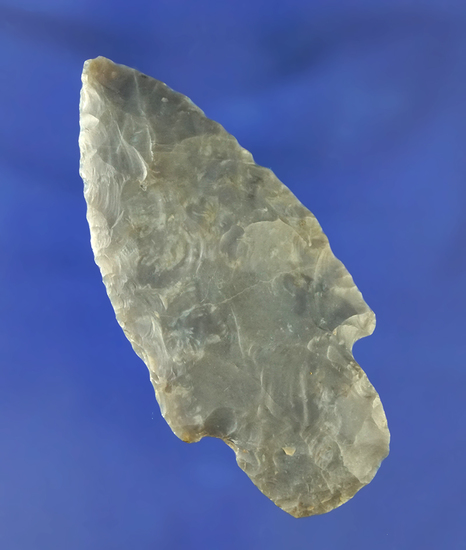 "2 7/8"" Adena made from Flint Ridge Flint found in Monroe Co., Ohio. Ex. Stan Copeland collection."