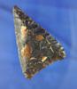 "Exceptional 2 1/2"" Knife River Flint Triangular Blade found near the Missouri River in South Dakota."