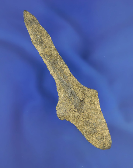 """3 7/8"""" Stemmed Woodland Drill made from Rhyolite found in Berks Co.,  PA. Bennett COA."""