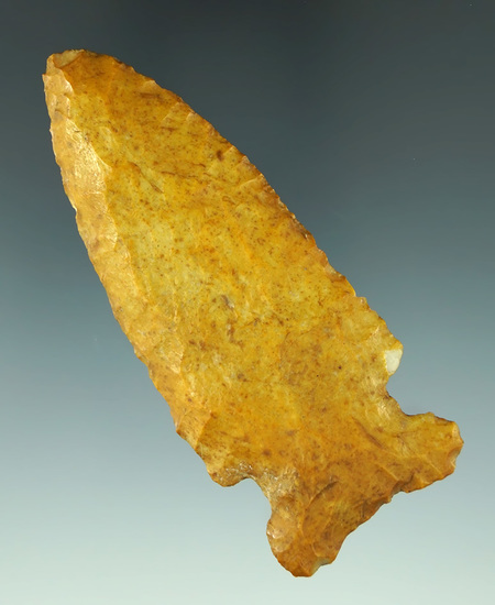 """3 1/4"""" heavily patinated Oceola found in the Illinois/Missouri area. Ex. Nick Miller collection."""