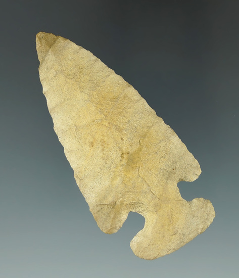 """2 3/4"""" Thebes found in Ross Co., Ohio. Ex. Tim Johnson collection. Comes with a Davis COA."""