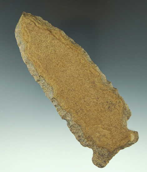 """Large 5"""" Cornernotch Knife found in Tennessee. Ex. Rocky Hall collection."""