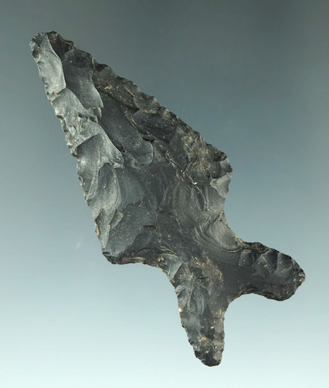 """2 1/2"""" Baker point found in Bandura Co., Texas with a very uniquely styled base.  Rogers COA."""