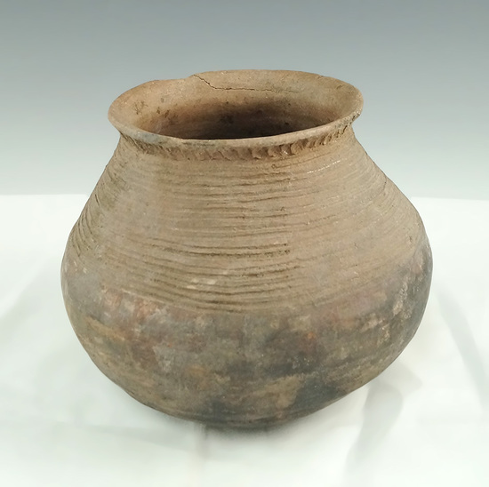 """5 1/2"""" Hohokam pottery vessel found in central Arizona. Some original paint on exterior."""